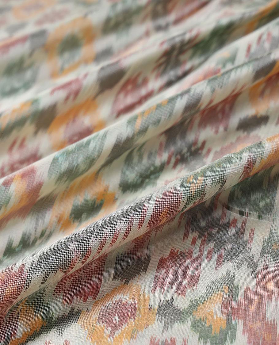 Ikkat Silk Multi Use Material MUMN236