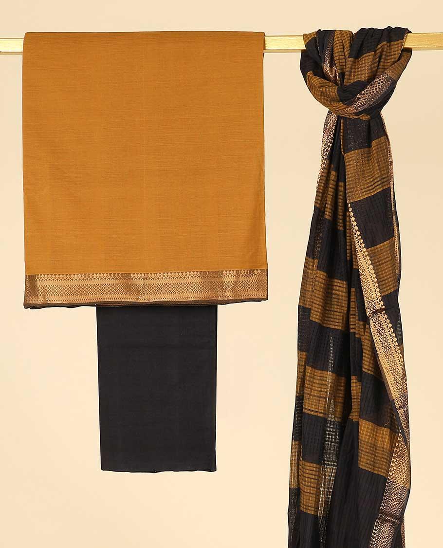 Mustard Cotton Chudidhar Material